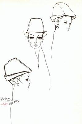 Halston Robin Hood hat