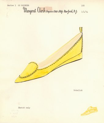 Jerry Miller yellow flat with oval decoration