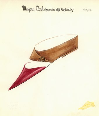 Jerry Miller red and tan flat