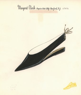 Jerry Miller black slingback with gold ties