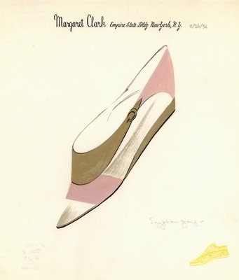 Jerry Miller pink and gold flat