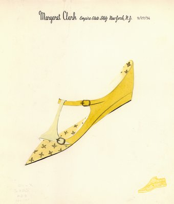 Jerry Miller yellow t-strap flat