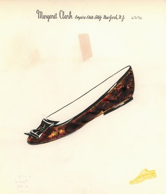 Jerry Miller tortoiseshell flat with black bow