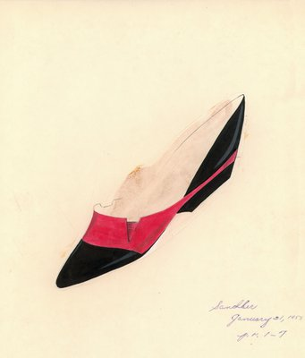 Jerry Miller red and black flat