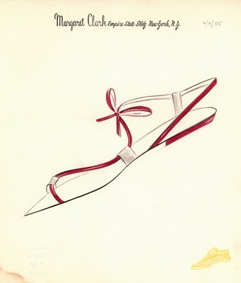 Jerry Miller red sandal with bow