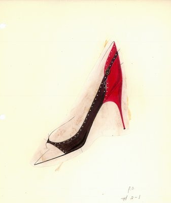 Jerry Miller red and black stiletto pump