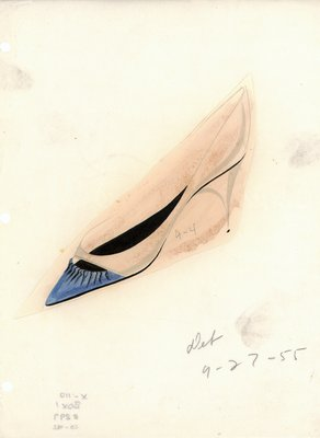 Jerry Miller blue and white stiletto pump
