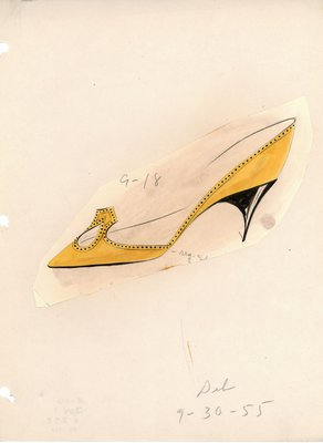 Jerry Miller yellow stiletto pump