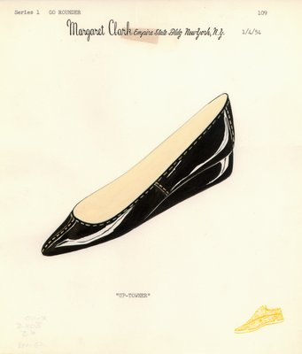 Jerry Miller black patent leather flat