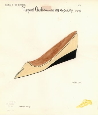 Jerry Miller cream-colored flat