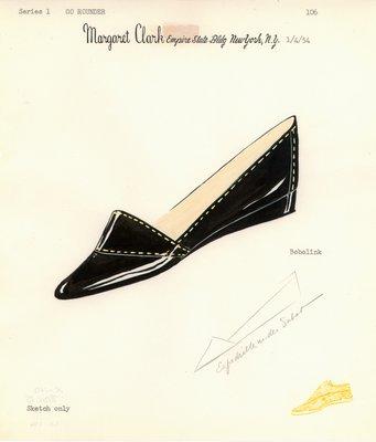 Jerry Miller black patent flat