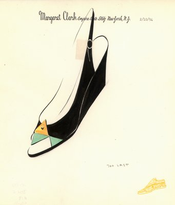 Jerry Miller green and gold pump