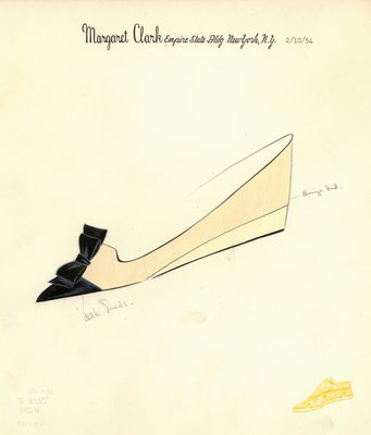 Jerry Miller beige flat with black suede bow
