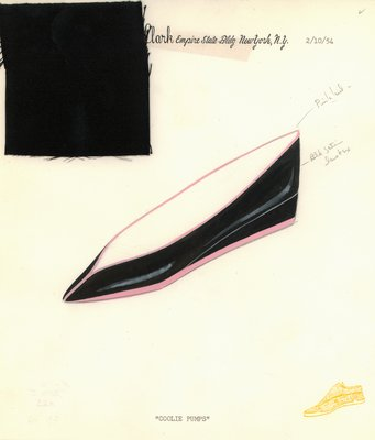 Jerry Miller black satin flat