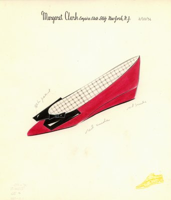 Jerry Miller red suede flat with bow