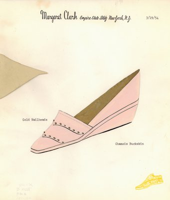 Jerry Miller pink buckskin espadrille with nailheads