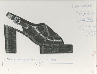 Jerry Miller platform slingback