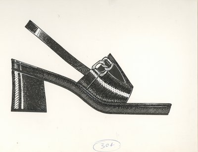Jerry Miller slingback with chain links
