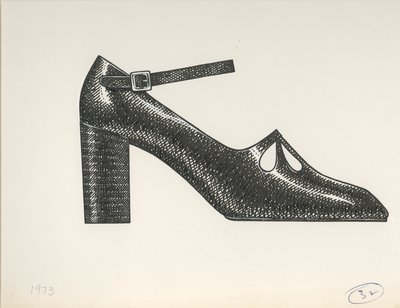 Jerry Miller ankle-strap pump with tear drop perforations