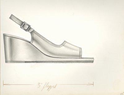 Jerry Miller slingback with wedge heel