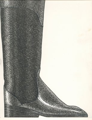 Jerry Miller knee-high boot with wedge heel