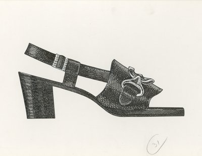 Jerry Miller sandal with decorative hardware