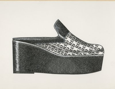 Jerry Miller clog with stenciled lettering