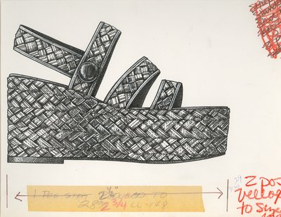 Jerry Miller woven straw platform sandal