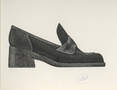 Jerry Miller loafer with chunky heel