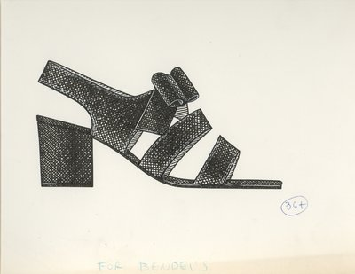 Jerry Miller sandal with self bow