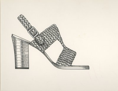 Jerry Miller woven sandal with cutouts