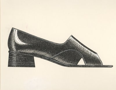 Jerry Miller flat with trapezoid-shaped heel