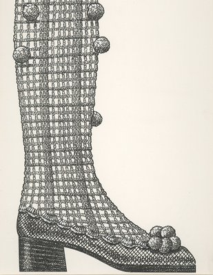Jerry Miller knee-high crocheted boot