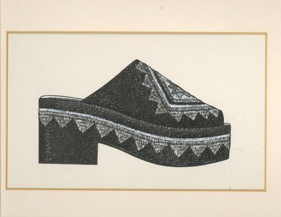Jerry Miller embroidered open-toed clog