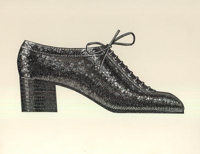 Jerry Miller oxford with stacked heel