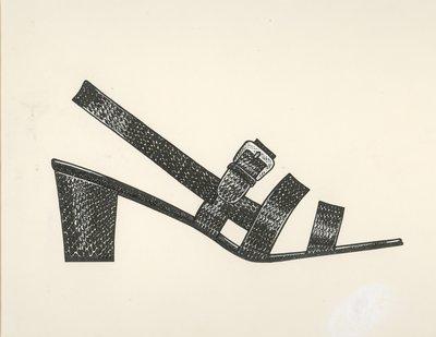 Jerry Miller reptile skin sandal