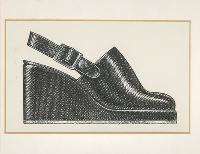 Jerry Miller clog with wedge heel