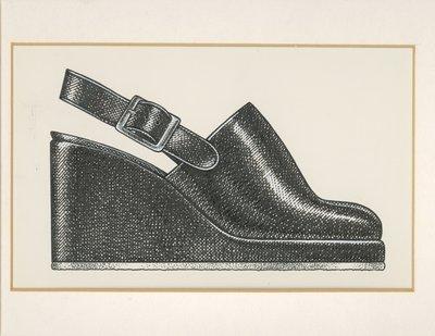 Jerry Miller clog with wedge heel