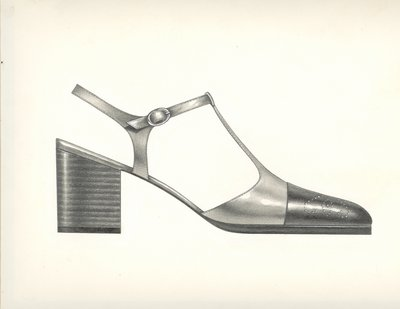 Jerry Miller two-toned t-strap pump