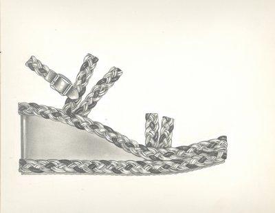 Jerry Miller sandal with braid trim
