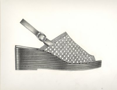 Jerry Miller clog with wickerwork