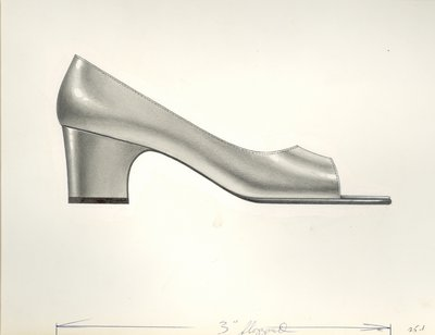 Jerry Miller open-toed pump