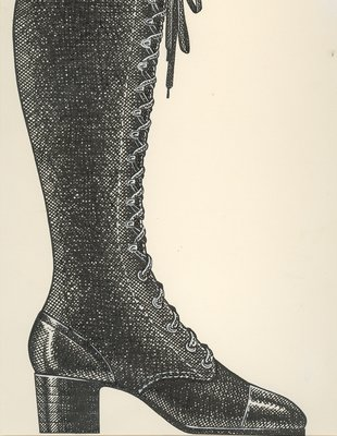 Jerry Miller laced knee-high boot