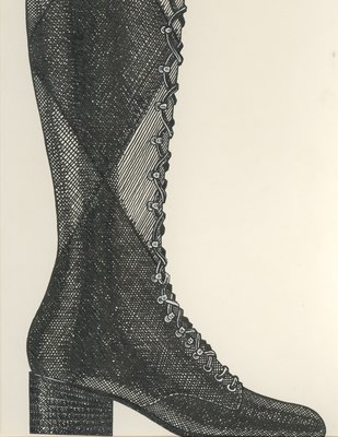 Jerry Miller front-laced knee-high boot