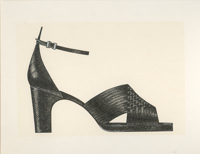 Jerry Miller woven leather pump