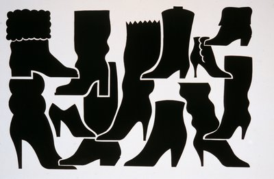 Silhouette of Women's Boots