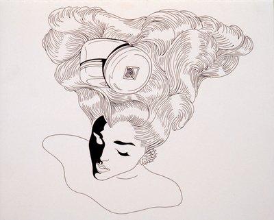 Female Head with Pomade Jar