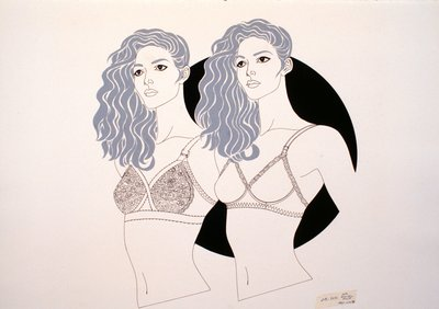 Two Figures in Brassieres