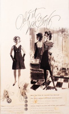 Lord & Taylor Advertisement: Yves St. Laurent Black Dresses