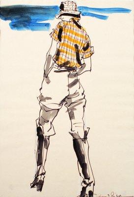 Jodhpurs and Plaid Shirt